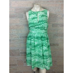 ModCloth Green Fit Flare Dress Size Small